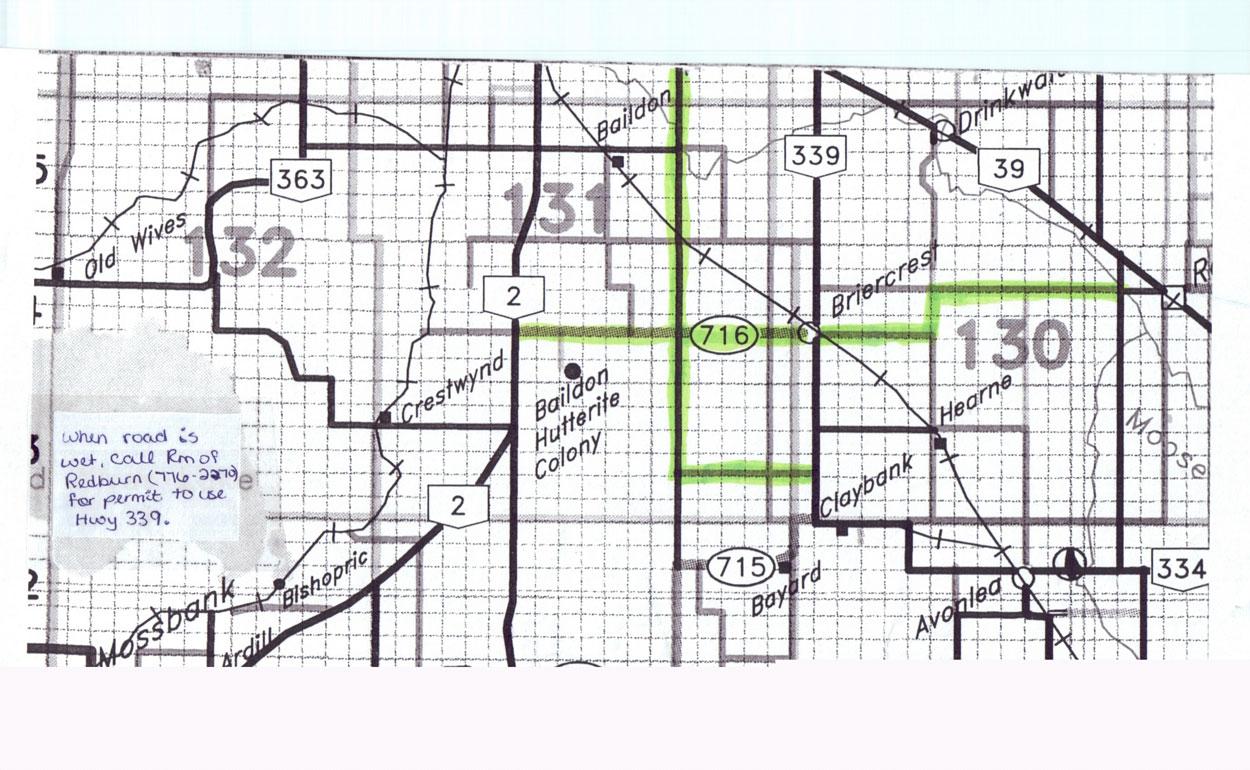 Briercrest Location Route Map